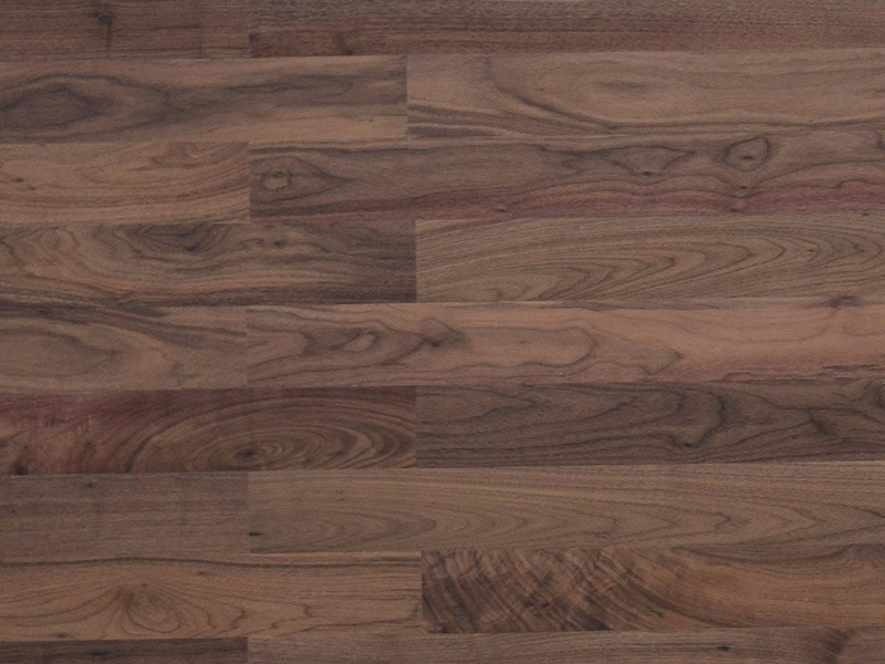 American walnut natural flat right-angle side